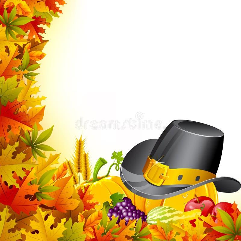 Ζωηρόχρωμη ημέρα των ευχαριστιών ελεύθερη απεικόνιση δικαιώματος