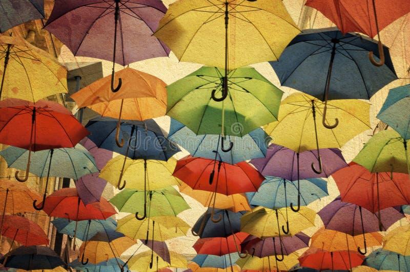 Ζωηρόχρωμη διακόσμηση οδών ομπρελών. στοκ φωτογραφίες με δικαίωμα ελεύθερης χρήσης