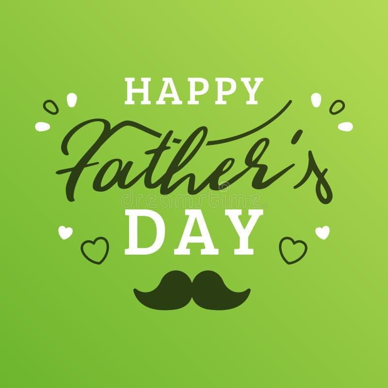 Ζωηρόχρωμη κάρτα ημέρας του ευτυχούς πατέρα ελεύθερη απεικόνιση δικαιώματος