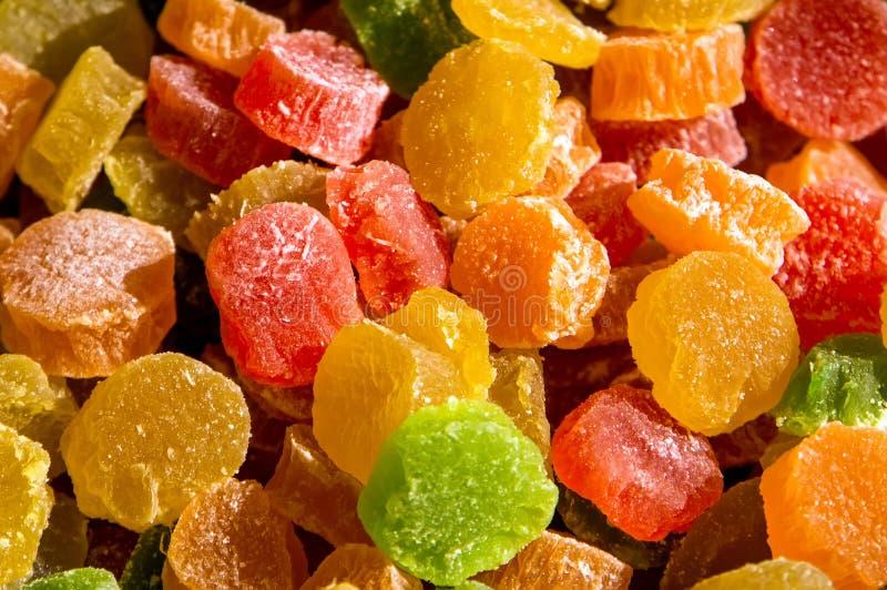 Ζωηρόχρωμη καραμέλα ζελατίνας φρούτων μιγμάτων στοκ φωτογραφίες
