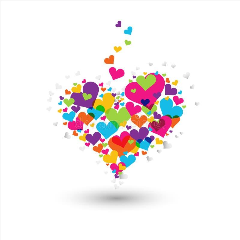 ζωηρόχρωμη καρδιά διανυσματική απεικόνιση