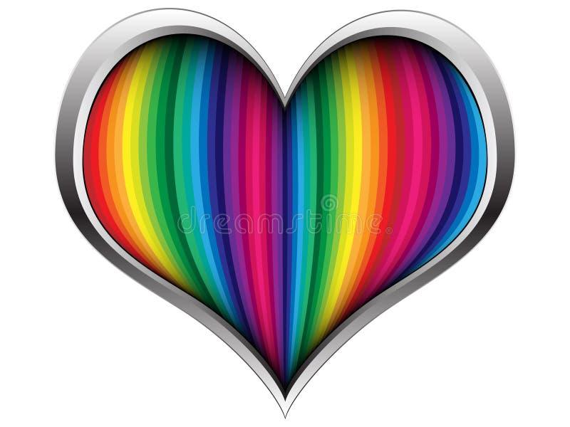 ζωηρόχρωμη καρδιά ελεύθερη απεικόνιση δικαιώματος