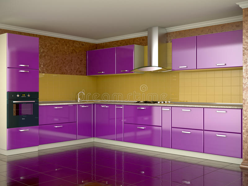 ζωηρόχρωμη κουζίνα απεικόνιση αποθεμάτων