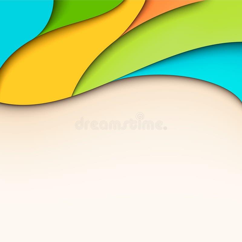 Ζωηρόχρωμη κυματιστή ανασκόπηση με τη θέση για το κείμενο διανυσματική απεικόνιση