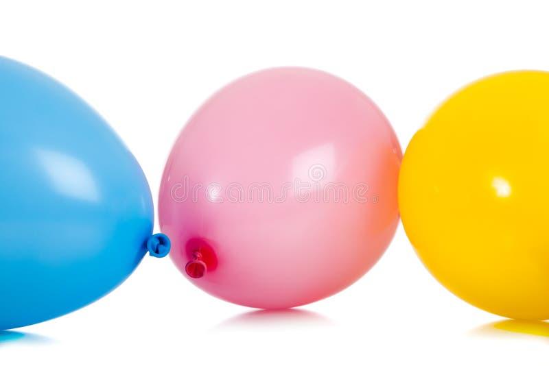 ζωηρόχρωμη ομάδα μπαλονιών στοκ εικόνες