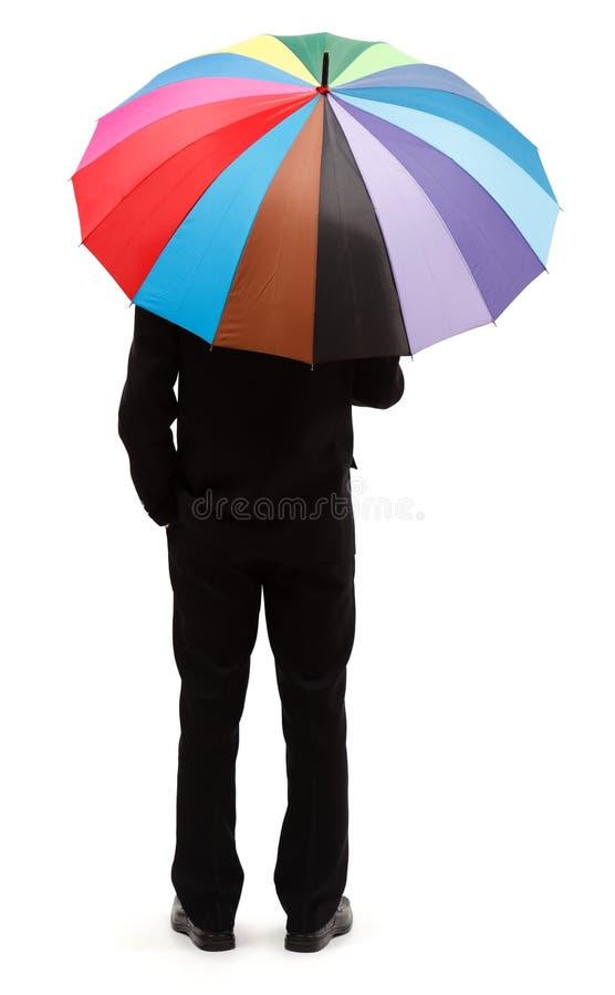 ζωηρόχρωμη ομπρέλα ατόμων στοκ φωτογραφία με δικαίωμα ελεύθερης χρήσης