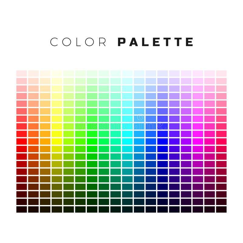 Ζωηρόχρωμη παλέτα Σύνολο φωτεινών χρωμάτων της παλέτας ουράνιων τόξων Πλήρες φάσμα των χρωμάτων Απεικόνιση που απομονώνεται διανυ απεικόνιση αποθεμάτων