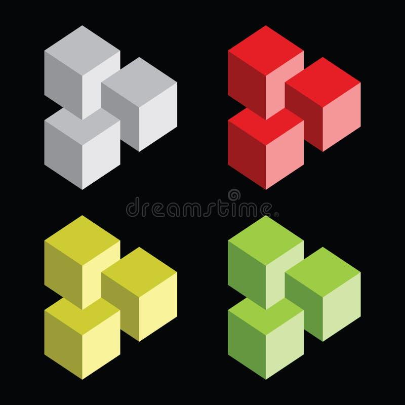 Download ζωηρόχρωμη παραίσθηση ομάδ&o Διανυσματική απεικόνιση - εικονογραφία από αντικείμενο, ψεύτικος: 22775130