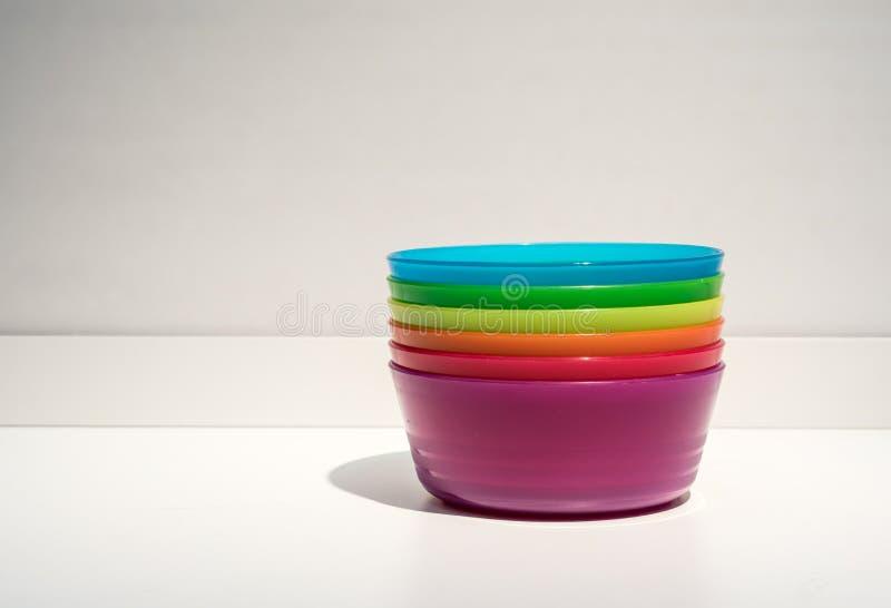 ζωηρόχρωμη πλαστική στοίβ&alph στοκ εικόνες