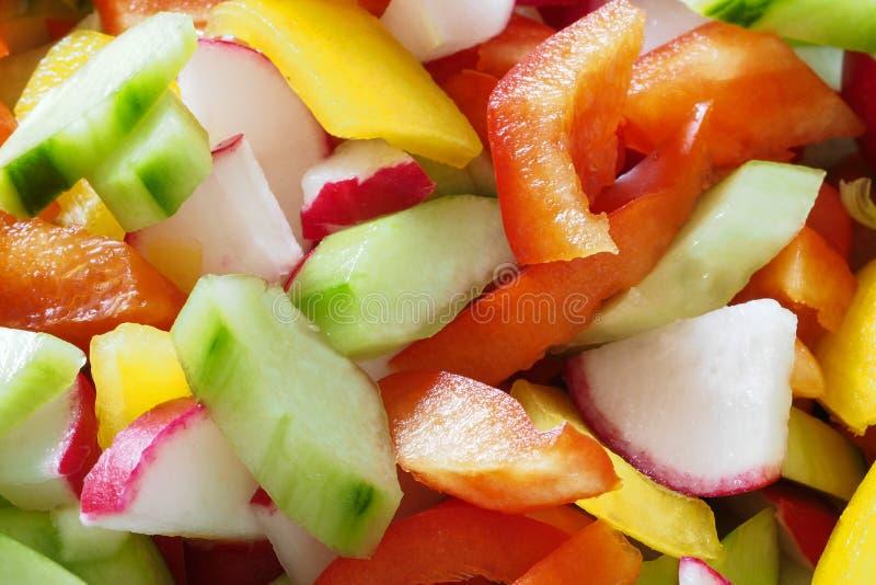 Ζωηρόχρωμη σαλάτα στοκ εικόνα