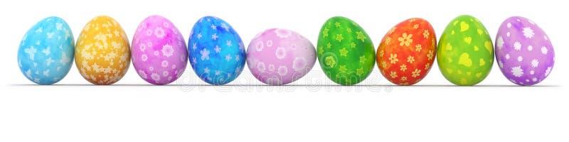 ζωηρόχρωμη σειρά αυγών Πάσχ&alp ελεύθερη απεικόνιση δικαιώματος