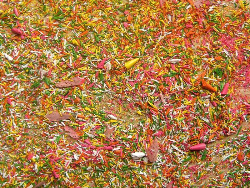 Ζωηρόχρωμη σκόνη πριονιών στοκ φωτογραφία