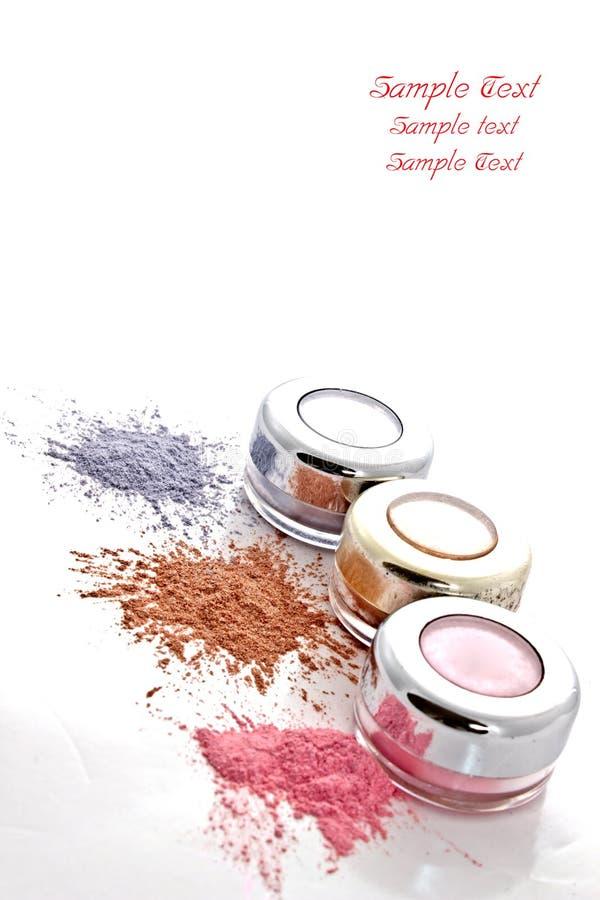 ζωηρόχρωμη σκόνη makeup στοκ εικόνες