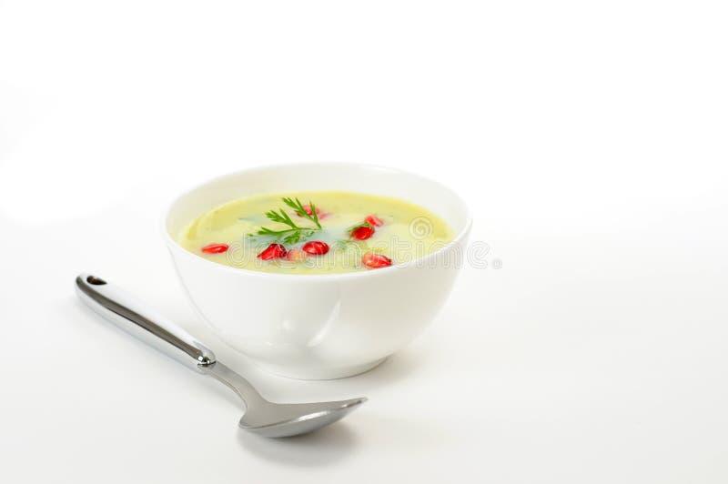 ζωηρόχρωμη σούπα μπρόκολο&up στοκ φωτογραφίες με δικαίωμα ελεύθερης χρήσης