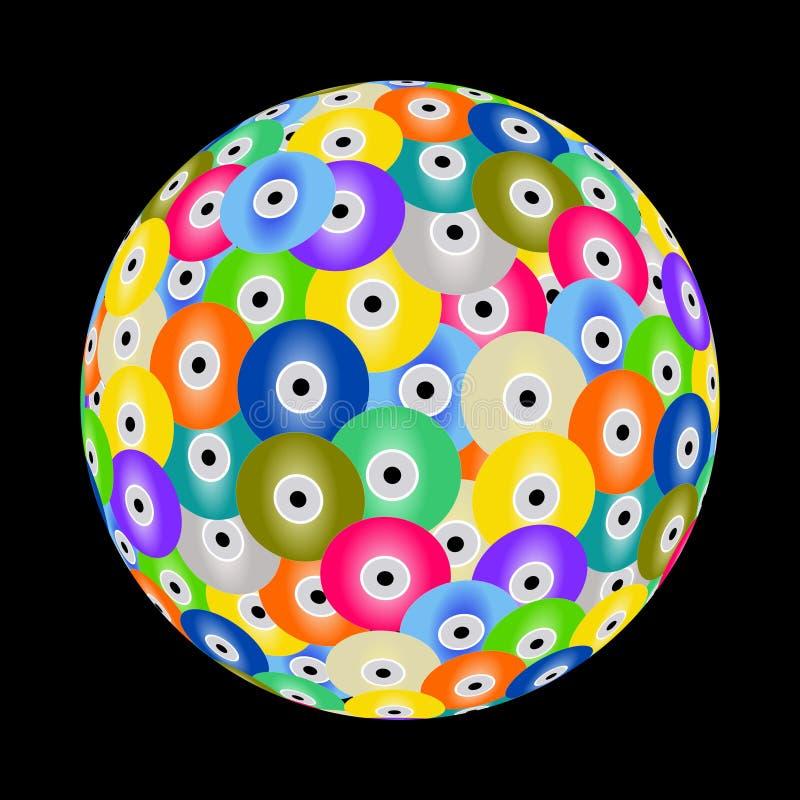 ζωηρόχρωμη σφαίρα Cd διανυσματική απεικόνιση