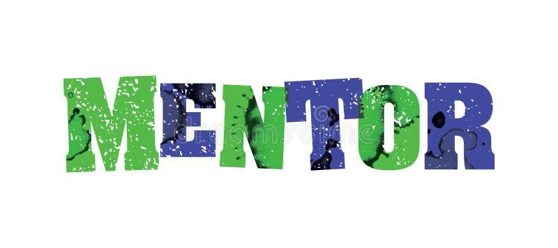 Ζωηρόχρωμη σφραγισμένη απεικόνιση του Word έννοιας συμβούλων απεικόνιση αποθεμάτων