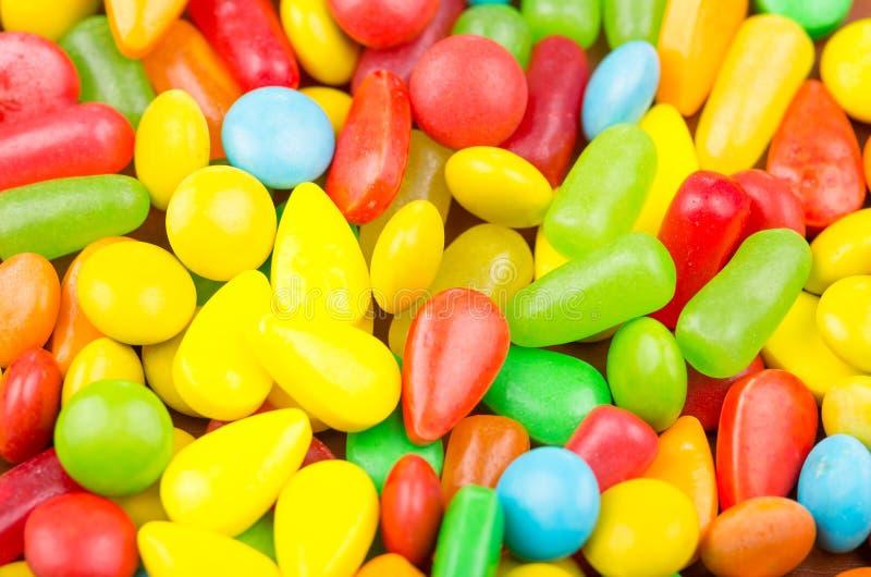 Ζωηρόχρωμη σύσταση καραμέλας καραμελών γλυκών στοκ εικόνα με δικαίωμα ελεύθερης χρήσης