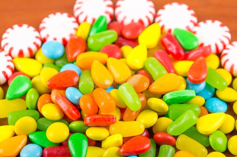 Ζωηρόχρωμη σύσταση καραμέλας καραμελών γλυκών στοκ φωτογραφία με δικαίωμα ελεύθερης χρήσης