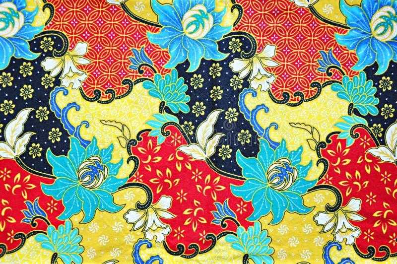 Ζωηρόχρωμη σύσταση υφάσματος μπατίκ νοτιοανατολικού ασιατική ύφους στοκ εικόνες με δικαίωμα ελεύθερης χρήσης