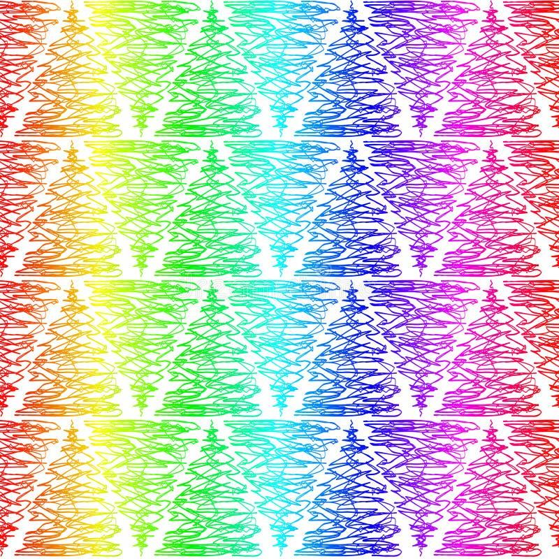 Ζωηρόχρωμη doodle σύσταση σχεδίων τριγώνων άνευ ραφής διανυσματική απεικόνιση