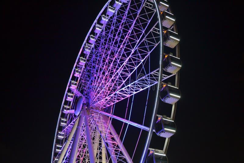 Ζωηρόχρωμη Ferris ρόδα του Μπρίσμπαν στοκ εικόνες με δικαίωμα ελεύθερης χρήσης