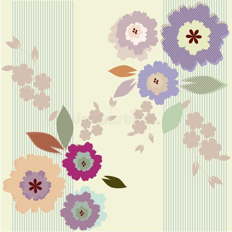 ζωηρόχρωμη floral άνοιξη ανασκόπη ελεύθερη απεικόνιση δικαιώματος