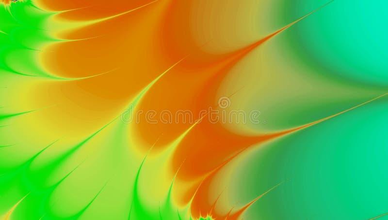 Ζωηρόχρωμη fractal απόδοση τροπικού, νησί, φύλλα φοινικών του Μαϊάμι διανυσματική απεικόνιση