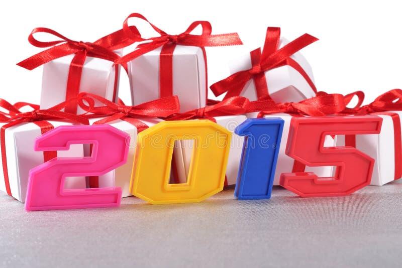 ζωηρόχρωμοι αριθμοί έτους του 2015 στοκ φωτογραφία με δικαίωμα ελεύθερης χρήσης