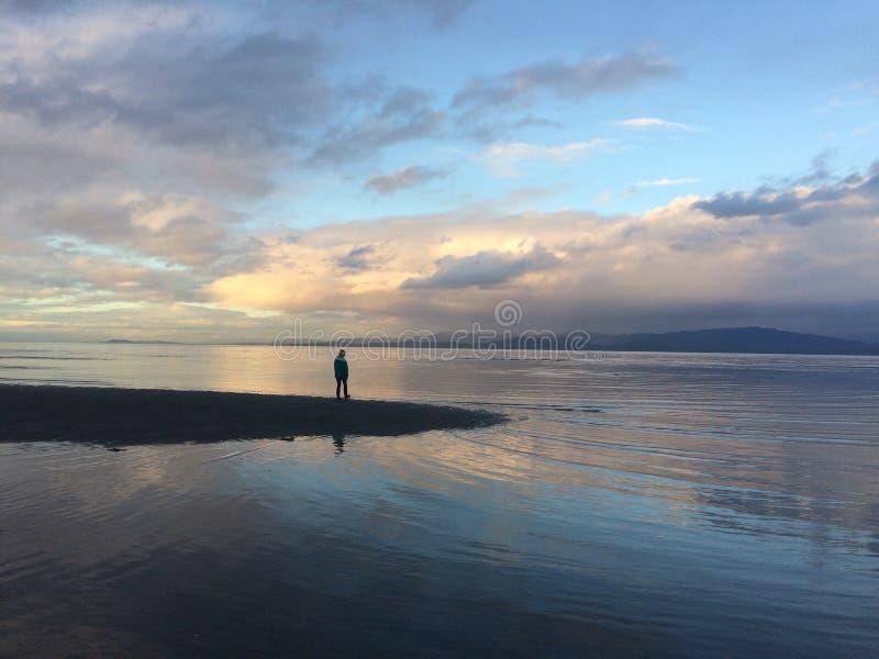 Ζωηρόχρωμοι beachy ουρανοί στοκ εικόνες