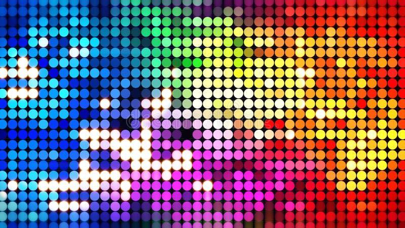Ζωηρόχρωμος λαμπιρίζοντας τοίχος disco ελεύθερη απεικόνιση δικαιώματος
