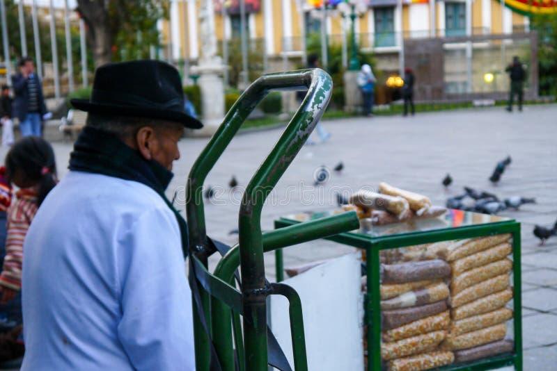 Ζωηρόχρωμος βολιβιανός bazaar στο Λα Παζ στοκ φωτογραφίες με δικαίωμα ελεύθερης χρήσης