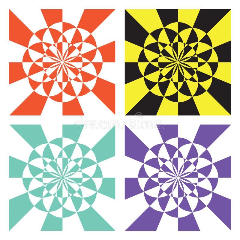 ζωηρόχρωμος γεωμετρικός ανασκόπησης διανυσματική απεικόνιση