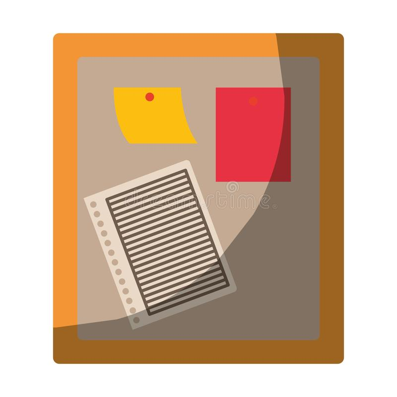 Ζωηρόχρωμος γραφικός της ξύλινης επιτροπής για τις σημειώσεις χωρίς το περίγραμμα και μισή σκιά ελεύθερη απεικόνιση δικαιώματος