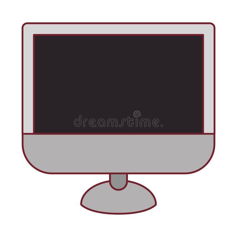 Ζωηρόχρωμος γραφικός του οργάνου ελέγχου LCD με το σκούρο κόκκινο περίγραμμα γραμμών απεικόνιση αποθεμάτων