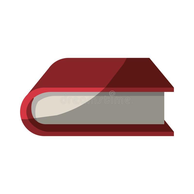Ζωηρόχρωμος γραφικός του παχιού βιβλίου χωρίς το περίγραμμα και μισή σκιά διανυσματική απεικόνιση
