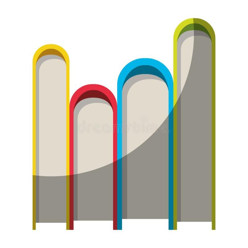 Ζωηρόχρωμος γραφικός του σωρού των βιβλίων χωρίς το περίγραμμα και μισή σκιά διανυσματική απεικόνιση