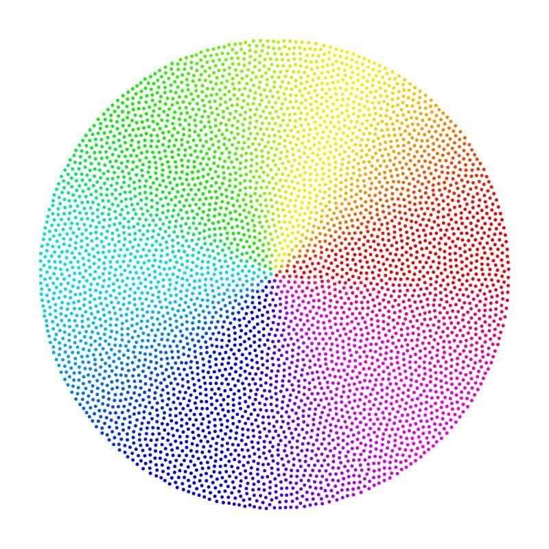 Ζωηρόχρωμος διαστιγμένος κωνικός κύκλος κλίσης απεικόνιση αποθεμάτων