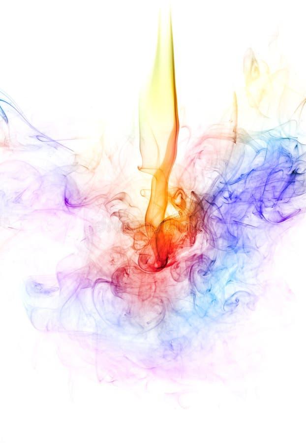 ζωηρόχρωμος καπνός στοκ εικόνες
