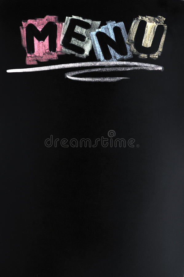 ζωηρόχρωμος κατάλογος επιλογής κιμωλίας γραπτός στοκ φωτογραφία