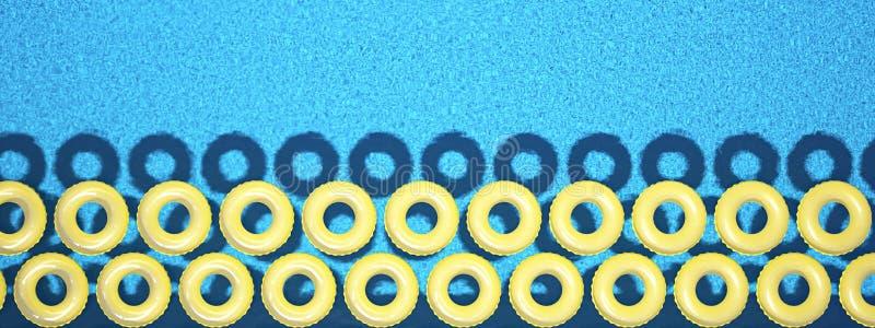 Ζωηρόχρωμος κολυμπήστε το δαχτυλίδι που απομονώνεται στην πισίνα τρισδιάστατη απόδοση στοκ εικόνα με δικαίωμα ελεύθερης χρήσης