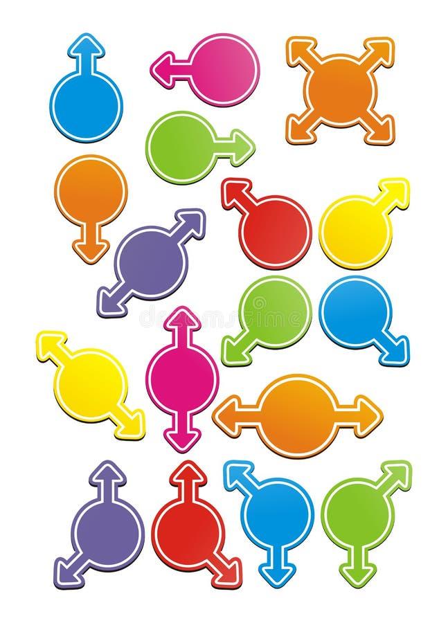 Ζωηρόχρωμος κύκλος με το βέλος ελεύθερη απεικόνιση δικαιώματος