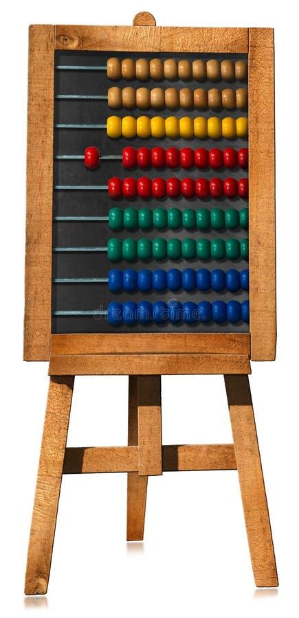 Ζωηρόχρωμος ξύλινος άβακας Easel ελεύθερη απεικόνιση δικαιώματος
