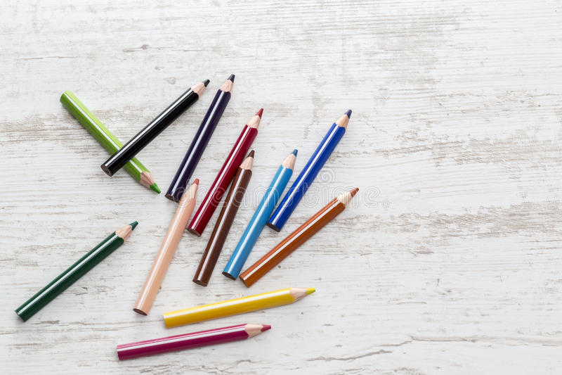 ζωηρόχρωμος πολλά μολύβια στοκ φωτογραφία με δικαίωμα ελεύθερης χρήσης