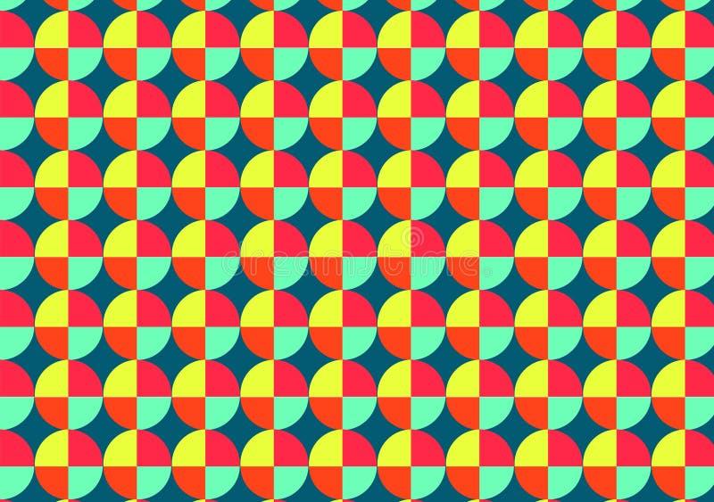 ζωηρόχρωμος του geomatric σχεδίου κύκλων διανυσματική απεικόνιση