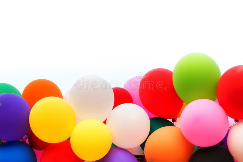 Ζωηρόχρωμος των μπαλονιών που απομονώνονται στοκ εικόνες με δικαίωμα ελεύθερης χρήσης