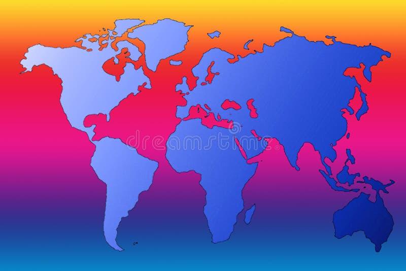 ζωηρόχρωμος χάρτης απεικόνιση αποθεμάτων