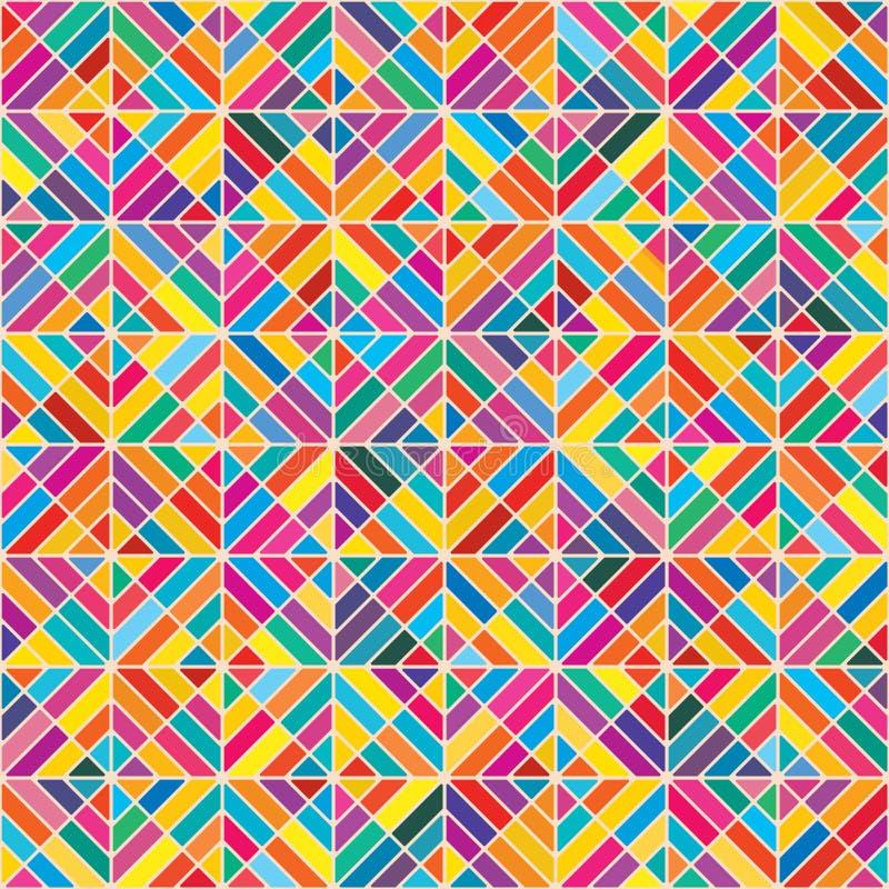 Ζωηρόχρωμο άνευ ραφής σχέδιο οκτώ μορφής διαμαντιών διανυσματική απεικόνιση