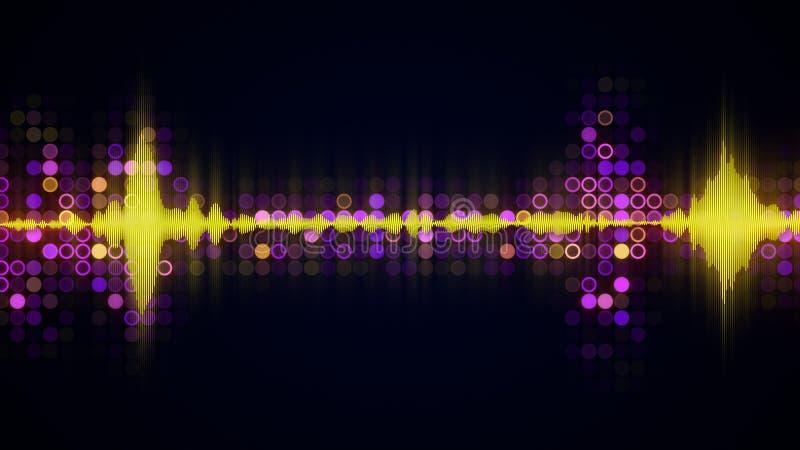 Ζωηρόχρωμο ακουστικό κυματοειδούς υπόβαθρο techno εξισωτών αφηρημένο διανυσματική απεικόνιση