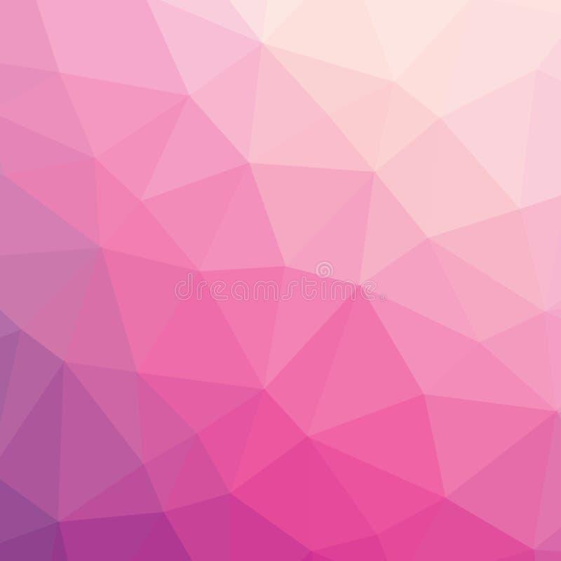 Ζωηρόχρωμο ανοικτό ροζ αφηρημένο γεωμετρικό χαμηλό πολυ γραφικό υπόβαθρο απεικόνισης ύφους απεικόνιση αποθεμάτων