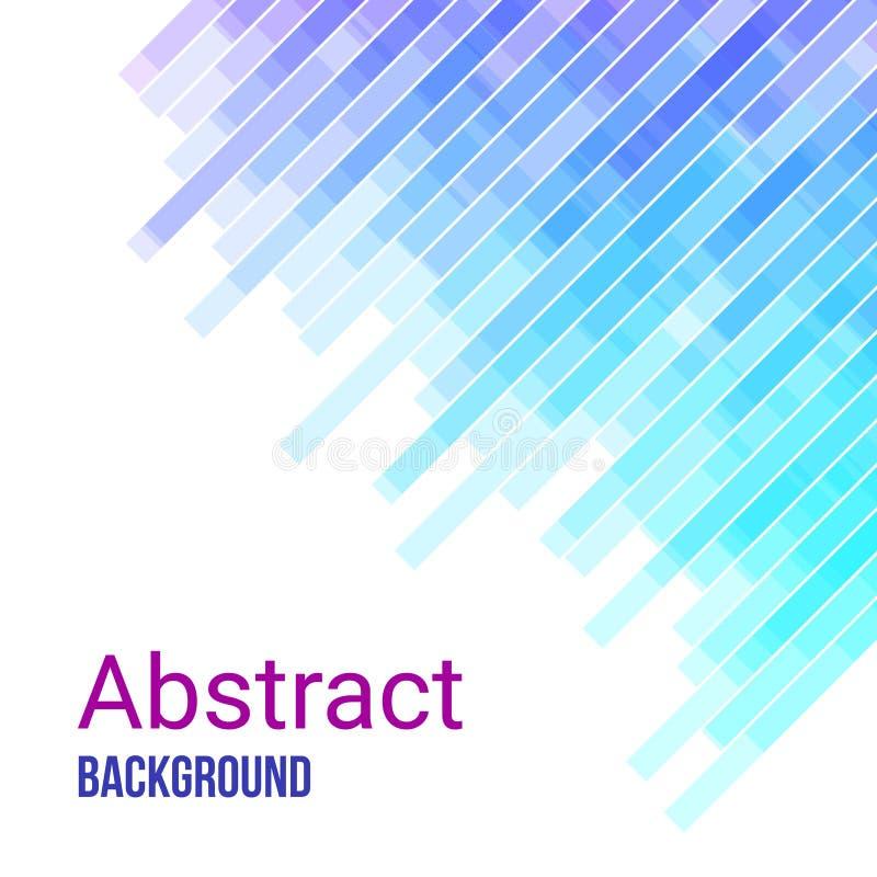 Ζωηρόχρωμο αφηρημένο γεωμετρικό επιχειρησιακό υπόβαθρο Ιώδες, ρόδινο και μπλε γεωμετρικό τυχαίο μωσαϊκό μορφών διανυσματική απεικόνιση